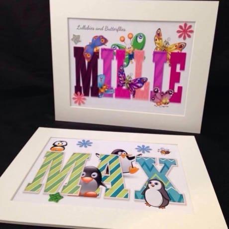 Children's name frames