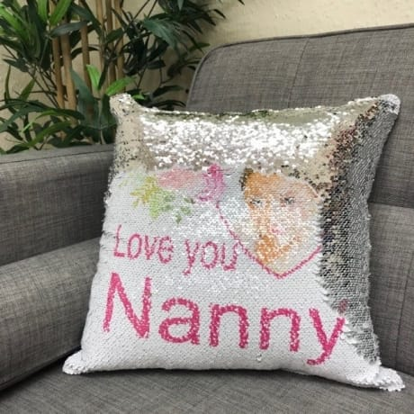 Sequin reveal cushions