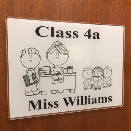 Class room door sign 2