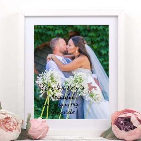 Every love story : Frame, Block, Plaque