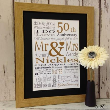 1 Year Wedding Anniversary Gifts Uk : 0130-Golden Wedding Anniversary