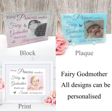 Fairy Godmother : Frame, Block or Plaque