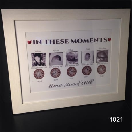 Moments in time 5 photos : Frame Block or Plaque