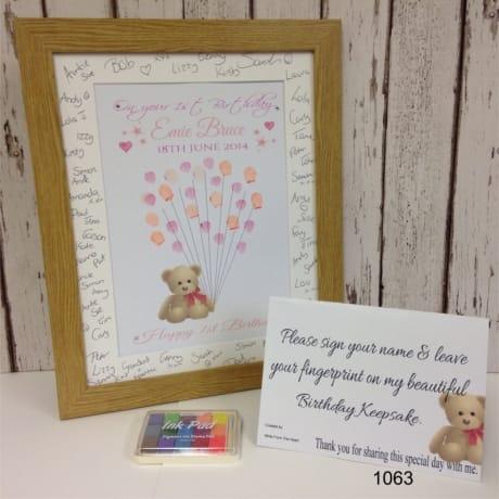 1063a - Birthday Fingerprint Teddy