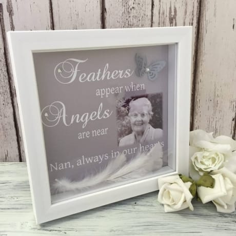 Handcrafted Photo Frame : Feathers appear
