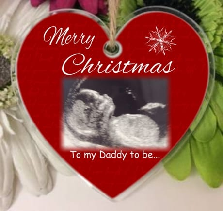 Christmas heart C14 Daddy to be