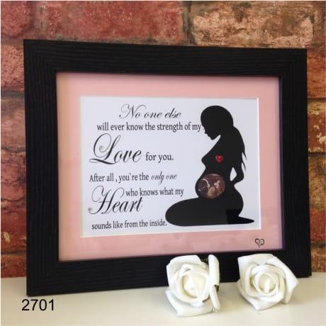 Personalised baby scan keepsake