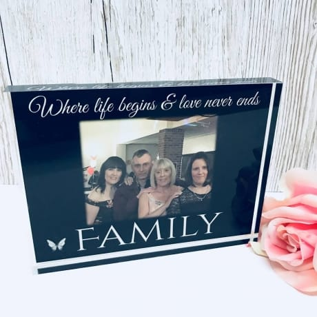 Family where life begins... Photo block, Frame, Plaque