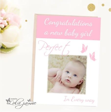 Card: B009 baby girl