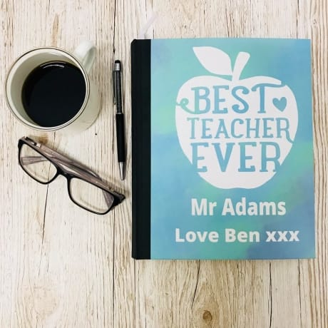 Best teacher gift / Personalised apple notebook