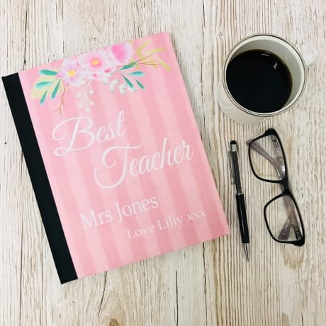 Best teacher gift / Personalised note book female