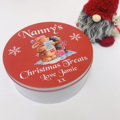 Christmas treat tin