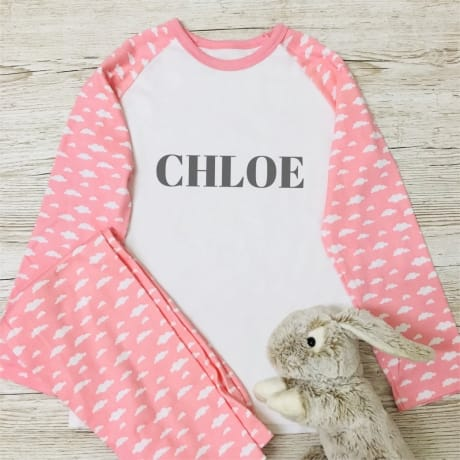 Personalised Cloud Pyjamas - add name