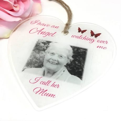 Personalised Acrylic Heart - Angel watching over me
