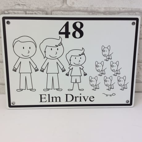 Door sign 2 : : Family Door Sign