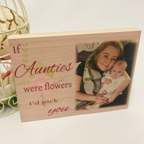 Personalised Wooden block - if Nannies were flowers I'd pick you