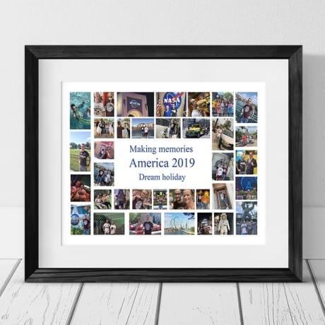 35 Photo Collage - Making memories Framed Print