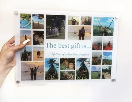 The Best Gift Is... Holiday Photo Collage Plaque