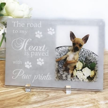 The road to my heart Pet Acrylic Plaque