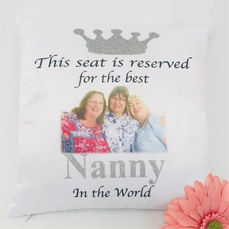 Personalised glitter cushion This seat is reserved for ..