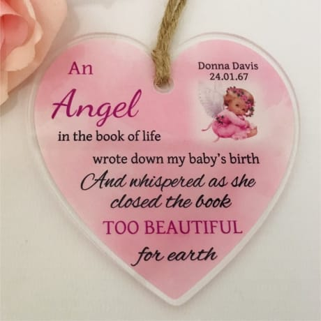 Personalised Baby Remembrance Heart