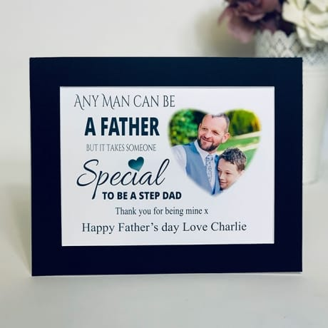 Any Man Can Be A Father : Frame, Block or Plaque