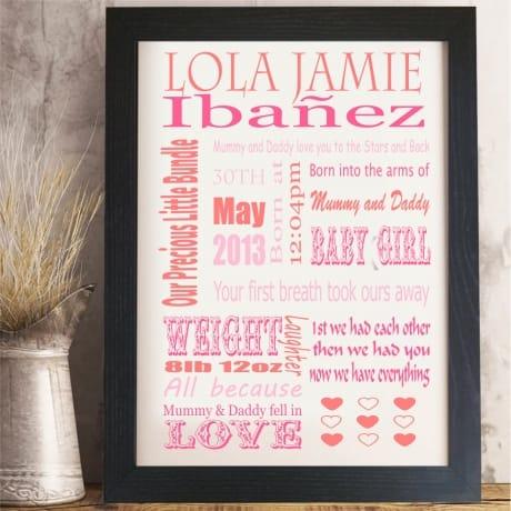 1013 - baby girl word art