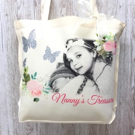 Large personalised Glitter detail bag