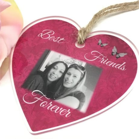 Personalised Acrylic heart - Best friends forever
