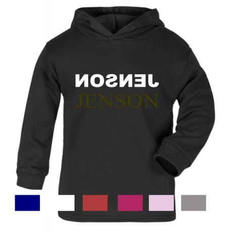 Personalised Gold text name hooded T-shirt