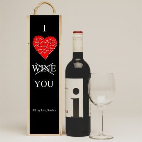 I love you, wine gift box