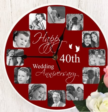 Personalised clock - Happy Anniversary