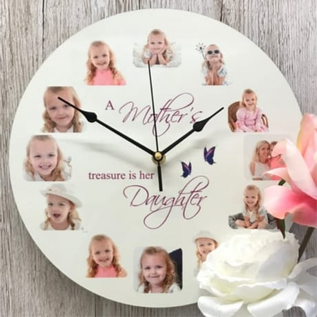Personalised clock - Treasure