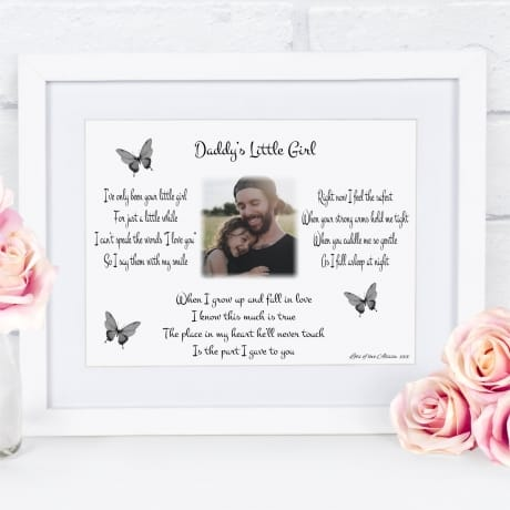 Daddy's little girl : Frame, Block or Plaque