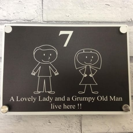 Grumpy old man door sign