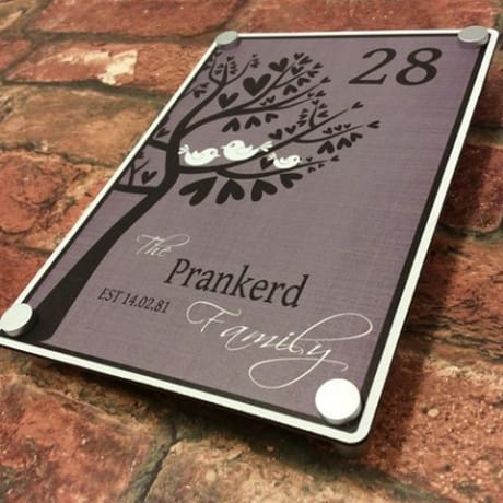 Aluminium Plaque : 0524 Door sign
