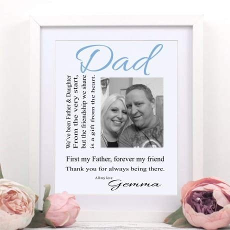 Personalised Photo gift - Father and Daughter