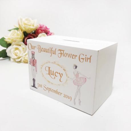 Personalised Money Box Flower Girl