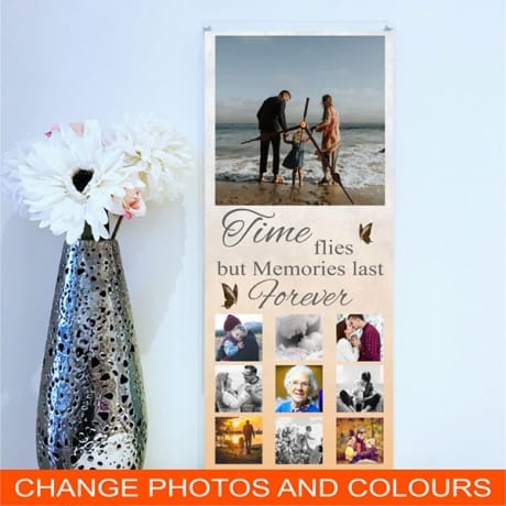 Giant personalised photo wall clock