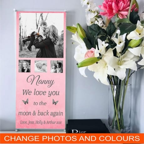 Giant photo clock, we love you to the moon & back