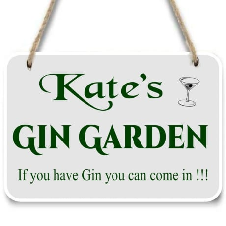 Gin garden sign add any name
