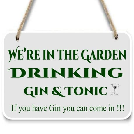 Gin garden sign