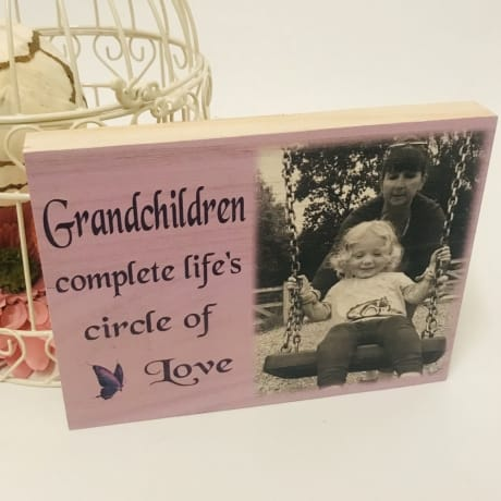 Personalised wooden block - Grandchildren