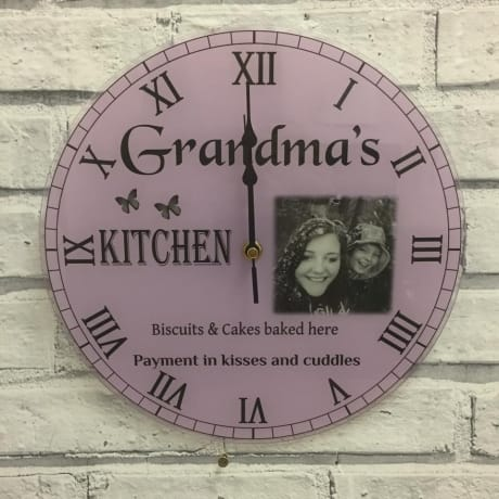 Personalised clock - grandparents