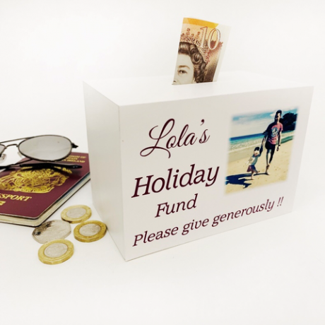 Personalised  Money Box Holiday Fund