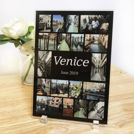18 Photo Holiday Collage Acrylic Plaque