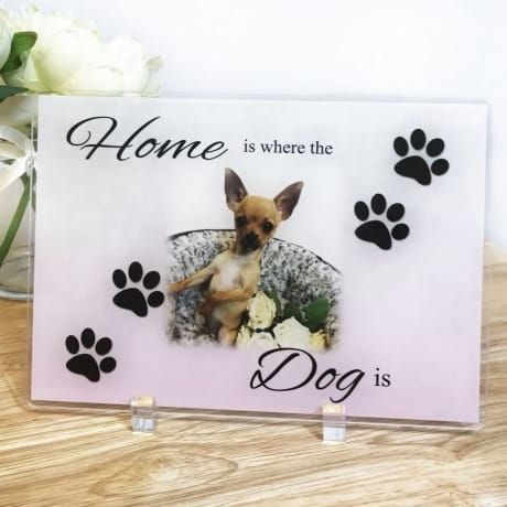 Home Is Where the Dog is Acrylic Plaque