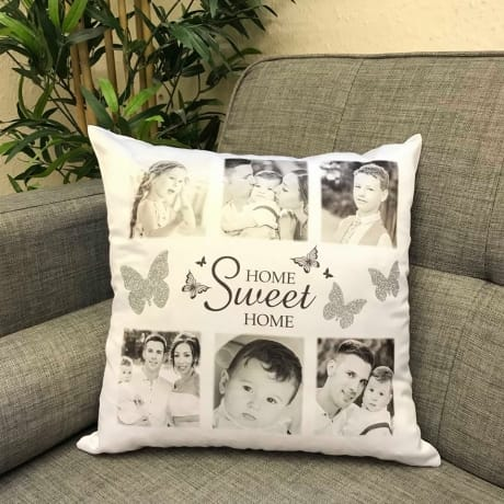 Personalised cushion with stunning glitter butterflies