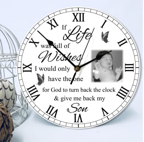 Personalised Remembrance Clock - Wishes