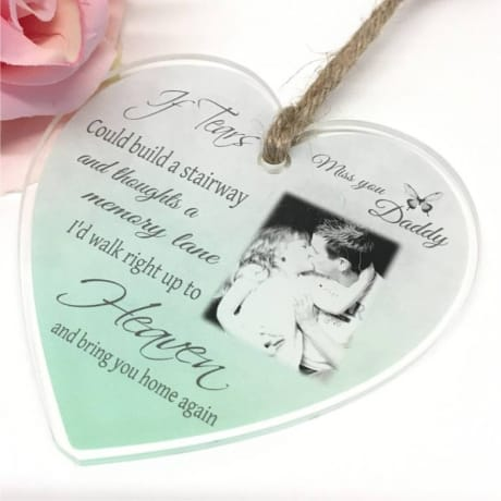 Personalised Acrylic Heart -If tears